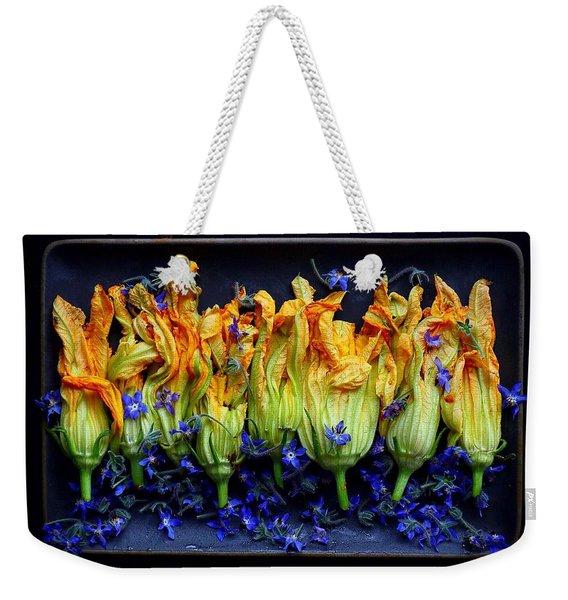 Zucchini Flowers Weekender Tote Bag