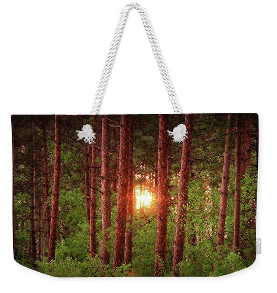 010 - Pine Sunset Weekender Tote Bag