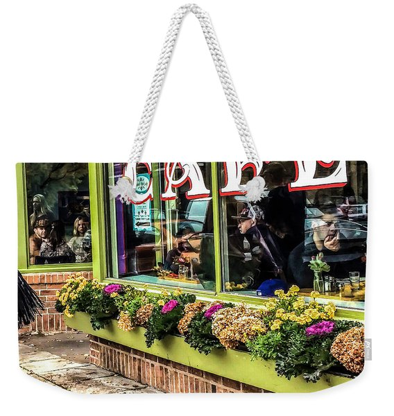 014 - French Meadow Cafe Weekender Tote Bag