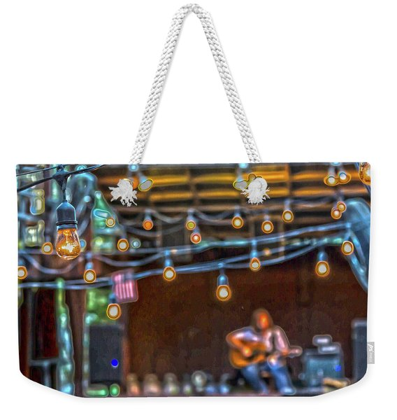 025 - Guitarist And Lights Weekender Tote Bag