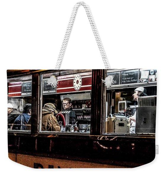 034 - People At Mickey's Weekender Tote Bag