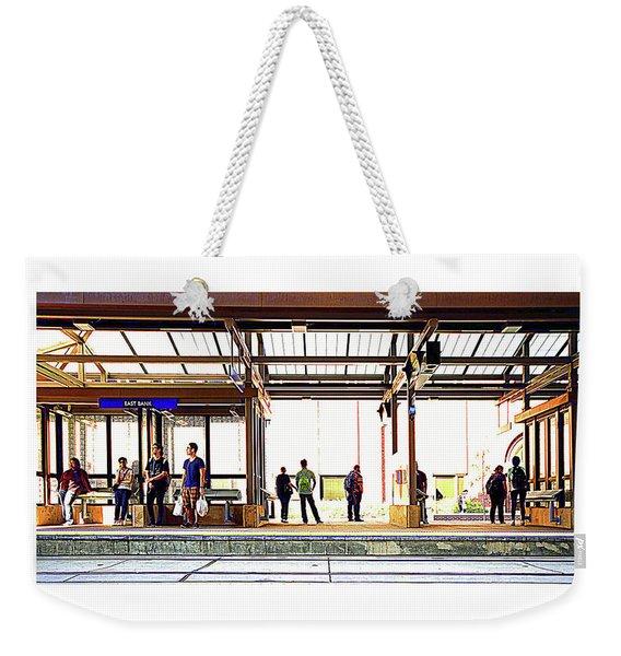 038 - Green Line Weekender Tote Bag