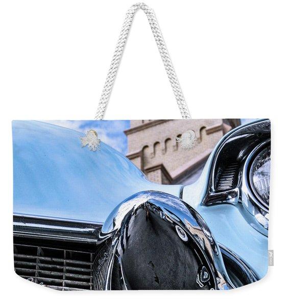 042 - Blue Caddy Weekender Tote Bag
