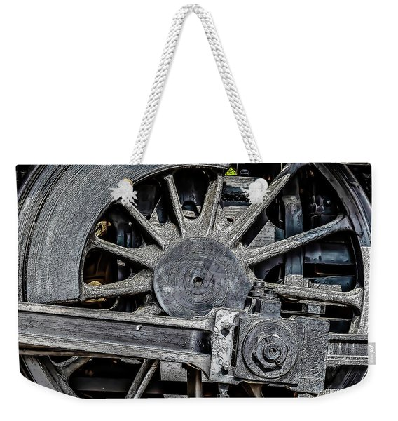 062 - Locomotive Wheel Weekender Tote Bag