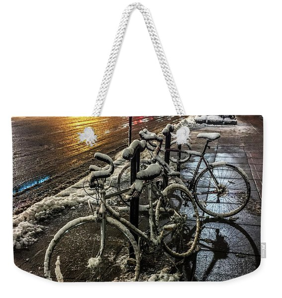 066 - City Snowmobiles Weekender Tote Bag