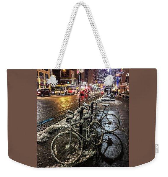 066 - City Snowmobiles Weekender Tote Bag