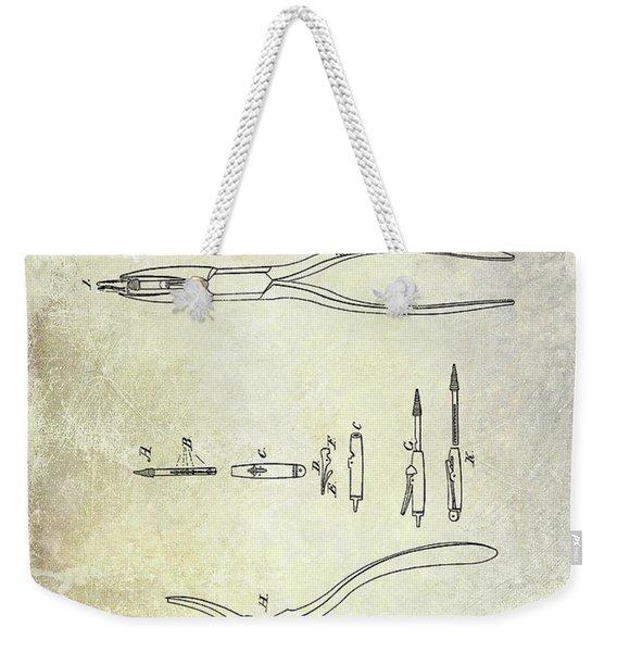 1848 Dental Forceps Patent Weekender Tote Bag