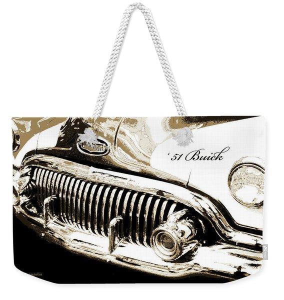 1951 Buick Super, Digital Art Weekender Tote Bag
