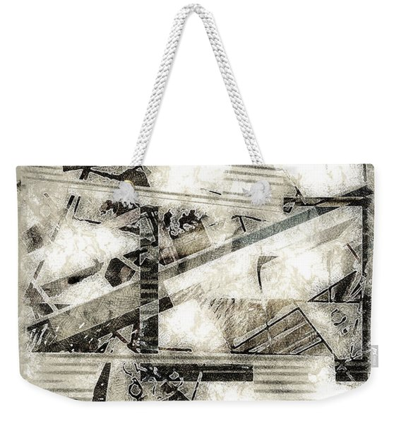 Abstract Triptych Weekender Tote Bag