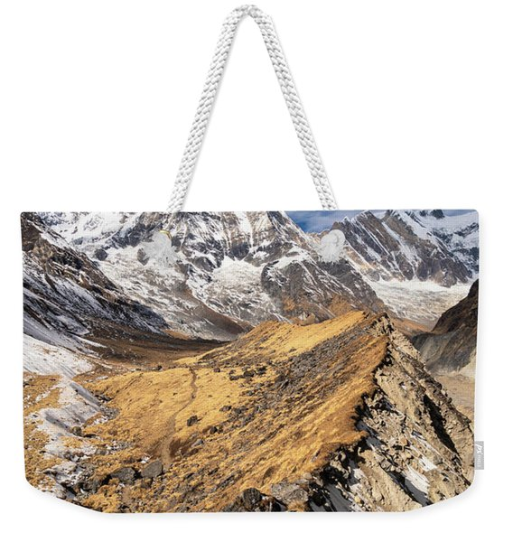 Annapurna South Peak In Nepal Weekender Tote Bag