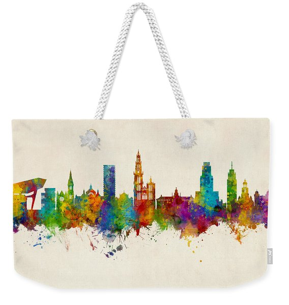 Antwerp Belgium Skyline Weekender Tote Bag