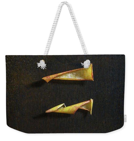 Apple Peel Weekender Tote Bag