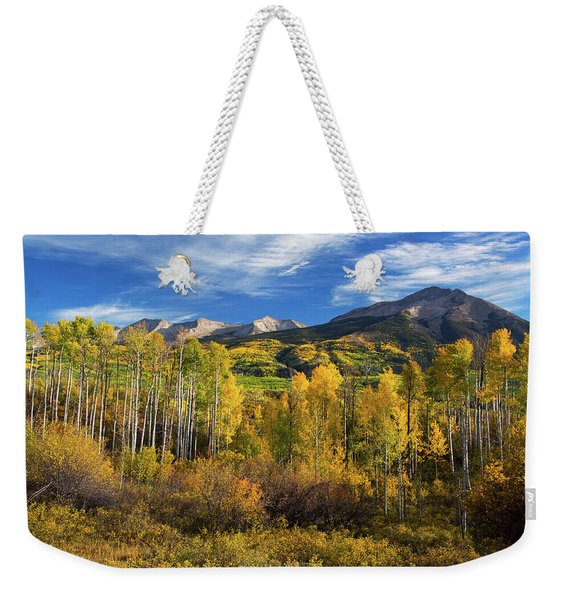 Weekender Tote Bag featuring the photograph Aspens Of Kebler Pass by John De Bord