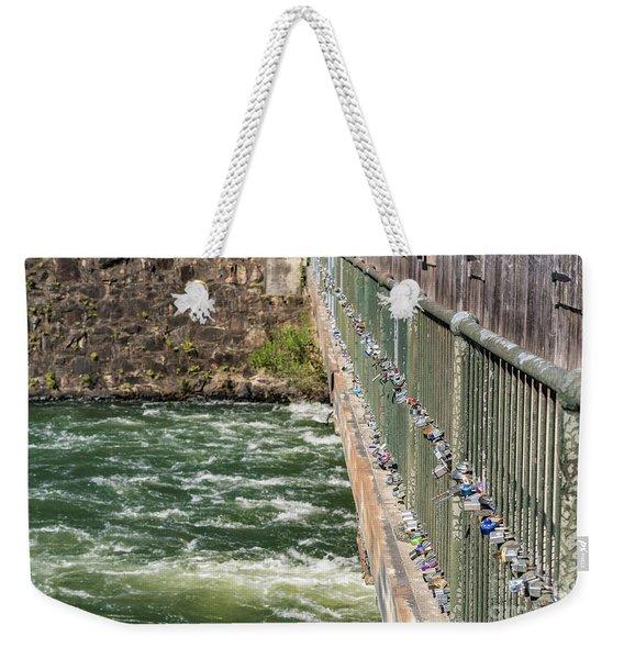 Augusta Canal Headgates - Augusta Ga Weekender Tote Bag