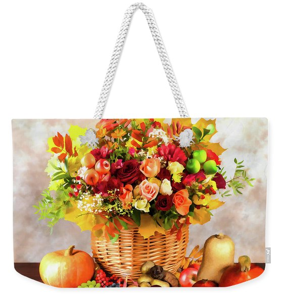 Autum Harvest Weekender Tote Bag