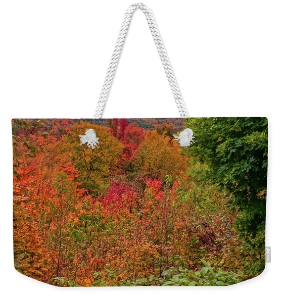 Autumn Beginnings In New Hampshire Weekender Tote Bag