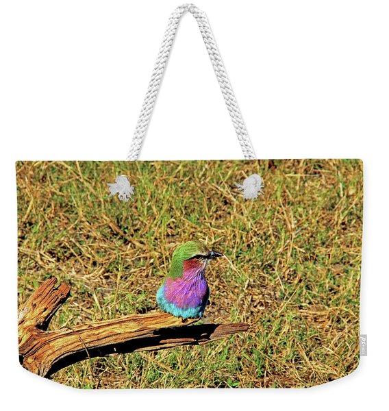 Bird - Lilac-breasted Roller Weekender Tote Bag