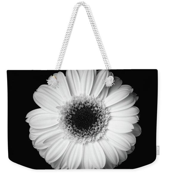 Black And White Flower Weekender Tote Bag