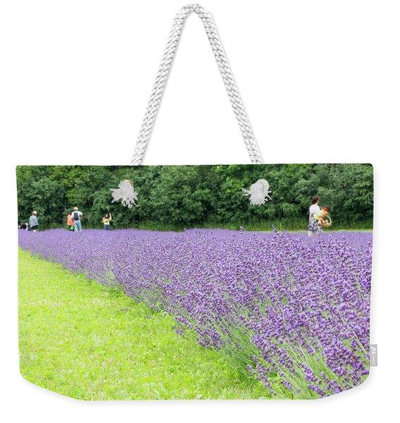 Blue Lavender Weekender Tote Bag