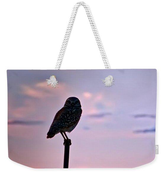Burrowing Owl On A Stick Weekender Tote Bag