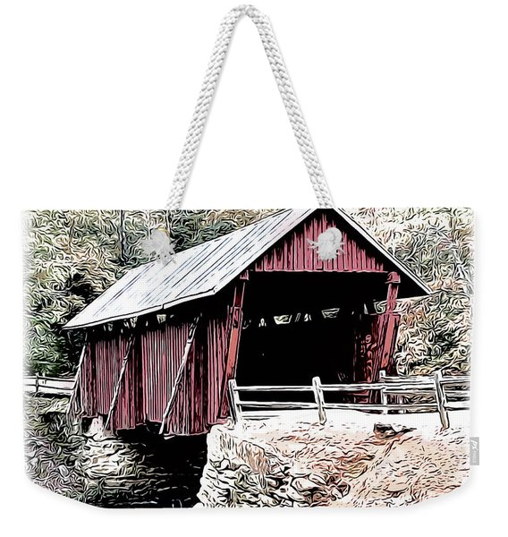 Campbells Covered Bridge Weekender Tote Bag