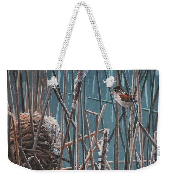 Cattail Hideaway Weekender Tote Bag