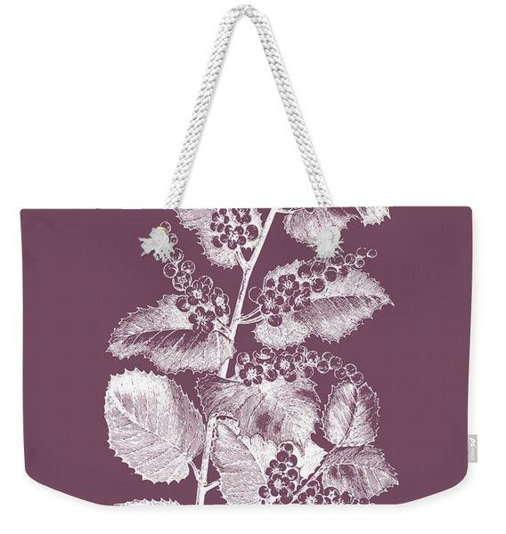 Cerasus Purple Flower Weekender Tote Bag