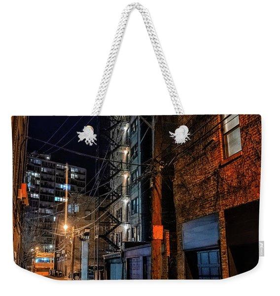 Chicago Nights Weekender Tote Bag