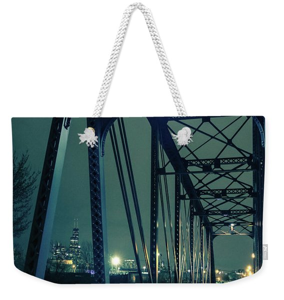 Chicago Railroad Bridge Weekender Tote Bag