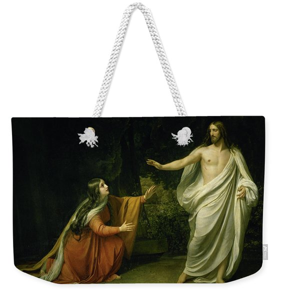 Christ's Appearance To Mary Magdalene After The Resurrection Weekender Tote Bag
