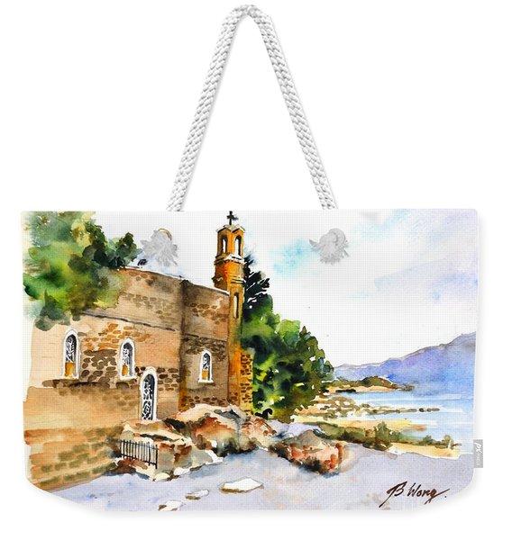 Church Of Primacy, Galilee Weekender Tote Bag