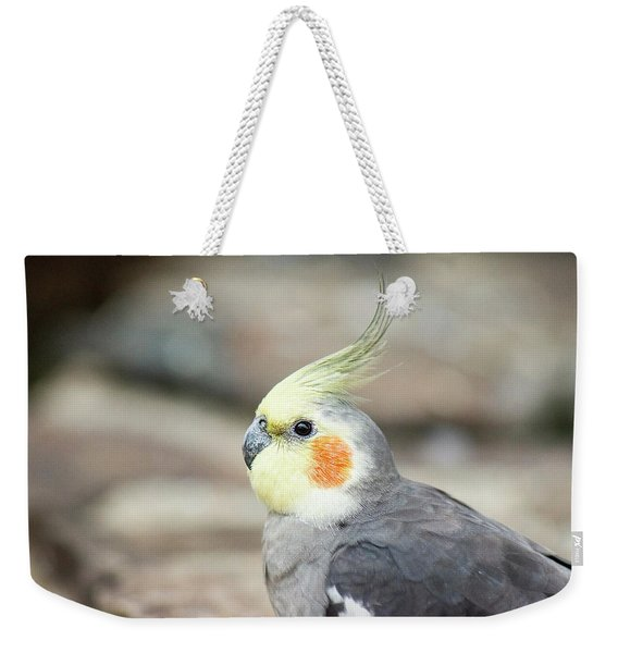 Weekender Tote Bag featuring the photograph Close Up Of A Cockatiel by Rob D Imagery