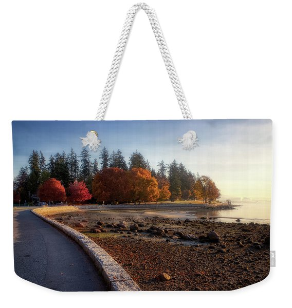 Weekender Tote Bag featuring the photograph Colorful Autumn Foliage At Stanley Park by Andy Konieczny
