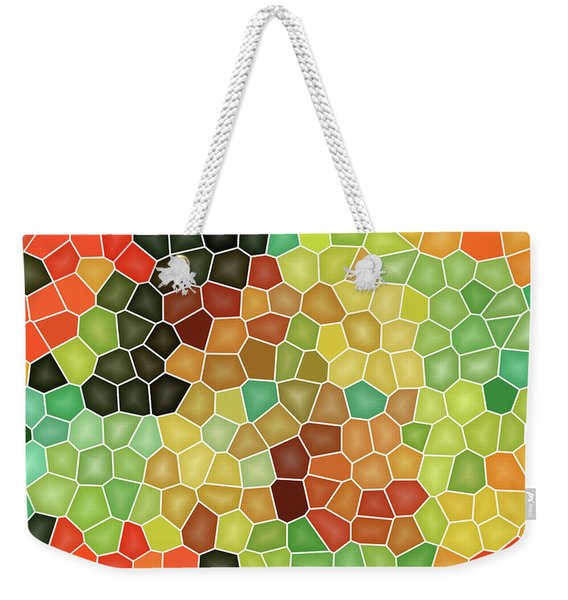 Colorful Stained Glass Weekender Tote Bag