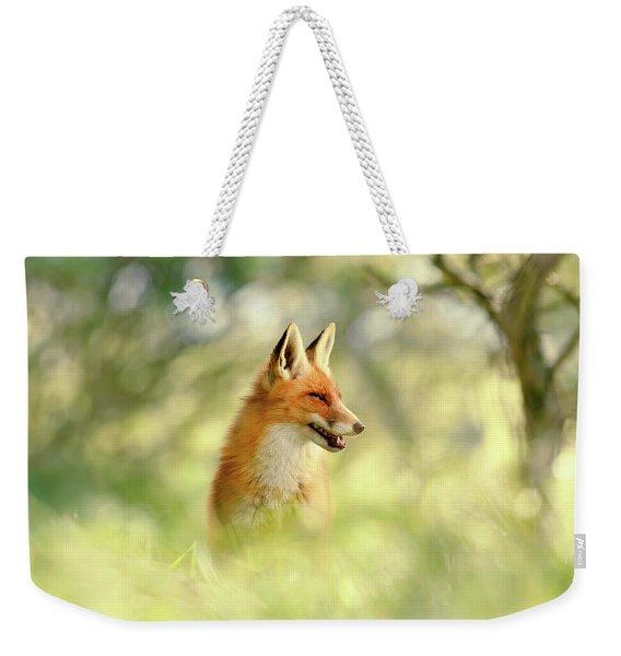 Comfortably Fox Weekender Tote Bag