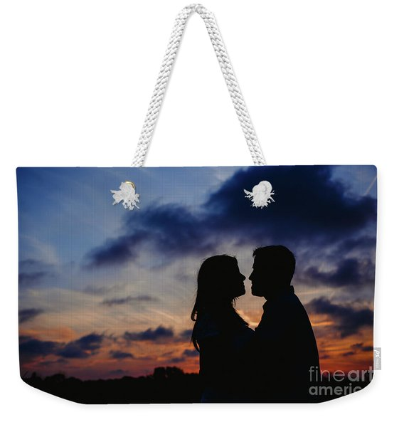 Couple With Cloud Sky Backlight Weekender Tote Bag