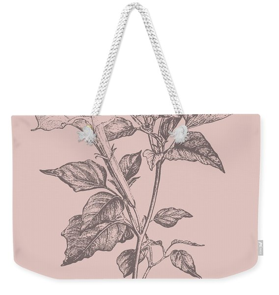 Datura Blush Pink Flower Weekender Tote Bag