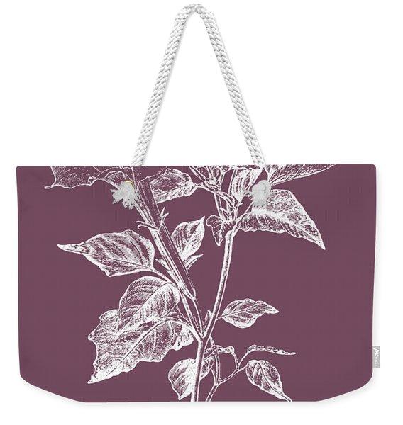 Datura Purple Flower Weekender Tote Bag