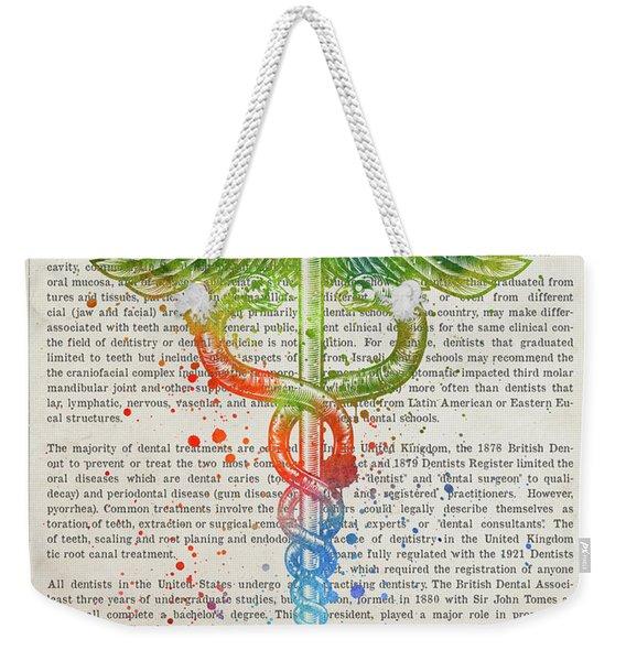 Doctor Of Dental Medicine Gift Idea With Caduceus Illustration 0 Weekender Tote Bag