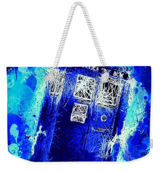 Weekender Tote Bag featuring the mixed media Doctor Who Tardis by Al Matra