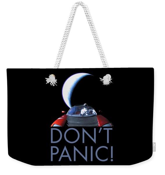 Don't Panic Starman Weekender Tote Bag