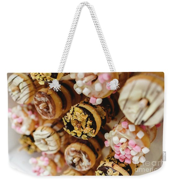 Donuts Of Different Flavors, To Put On An Unhealthy Diet Weekender Tote Bag