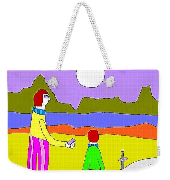 Double Moon Weekender Tote Bag