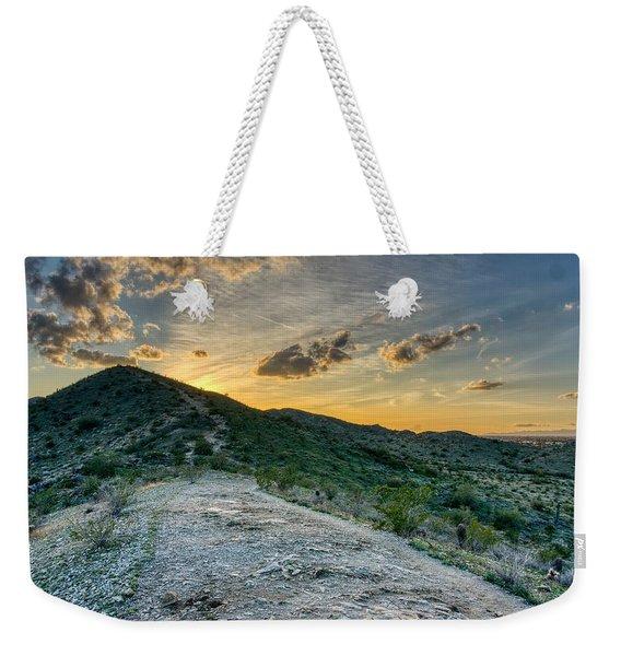 Dramatic Mountain Sunset  Weekender Tote Bag