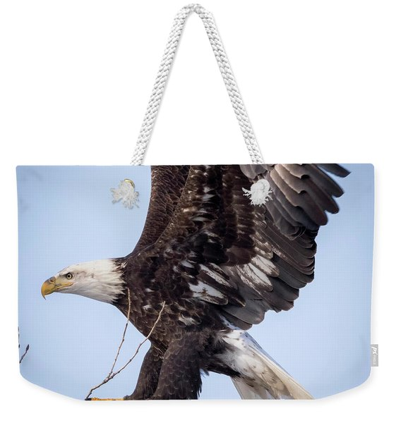 Eagle Coming In For A Landing Weekender Tote Bag