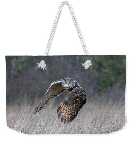 Eurasian Eagle Owl Flying Weekender Tote Bag