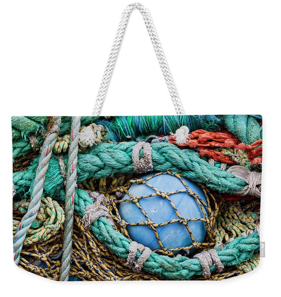 Fishing Nets And Blue Float 7904 Weekender Tote Bag