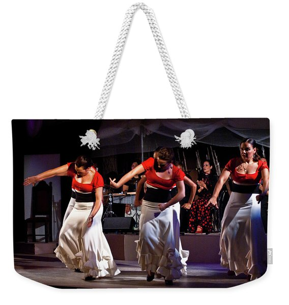 Weekender Tote Bag featuring the photograph Flamenco 39 by Catherine Sobredo