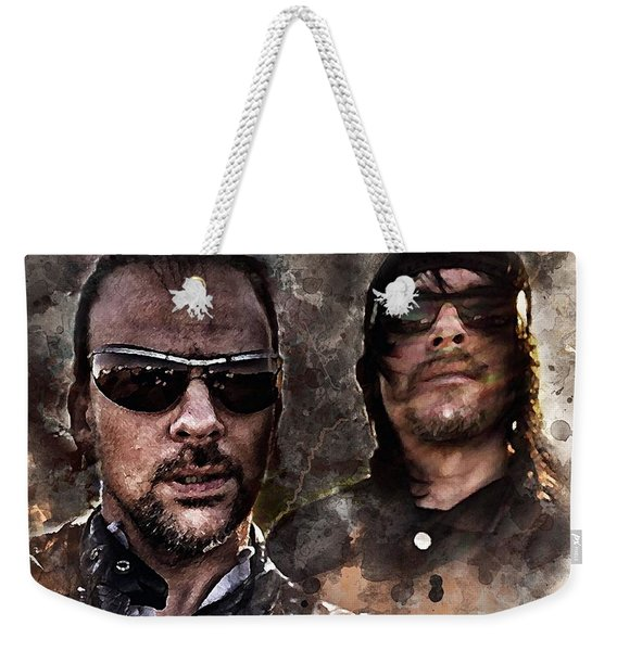 Flandus Watercolor Weekender Tote Bag