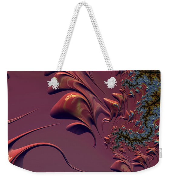 Fractal Playground In Pink Weekender Tote Bag